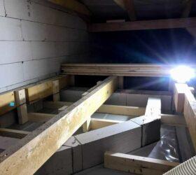 Trámový krov a sadrokartónový strop